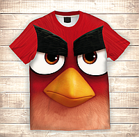 Футболка 3D Angry birds Red, фото 1
