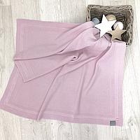 Плед Маленькая Соня Рогожка 80*100 см хлопковый вязаный детский розовый арт.825309
