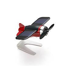 Автомобильный ароматизатор-самолёт на солнечной батарее, красный