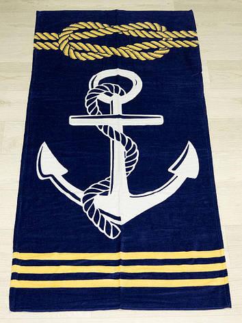 Полотенце пляжное Турция Anchor 2-3 75*150 см, фото 2