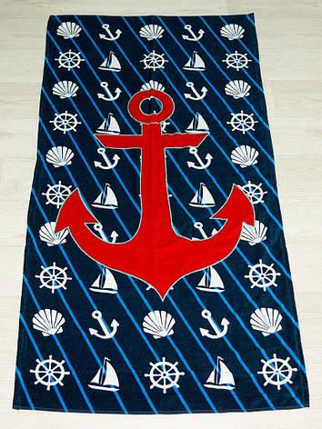 Полотенце пляжное Турция Anchor simbols 75*150 см, фото 2