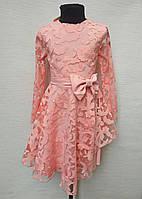 Нарядное детское платье на девочку от 5 до 8 лет с пышной юбкой