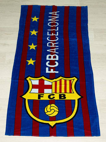 Полотенце пляжное Турция Barcelona-club 75*150 см, фото 2