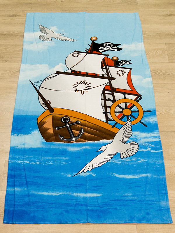 Полотенце пляжное Турция Pirates Ship 75*150 см