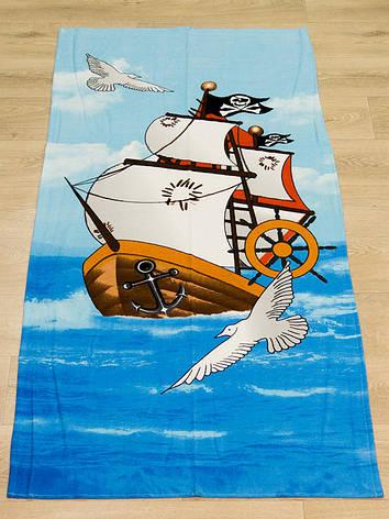 Полотенце пляжное Турция Pirates Ship 75*150 см, фото 2
