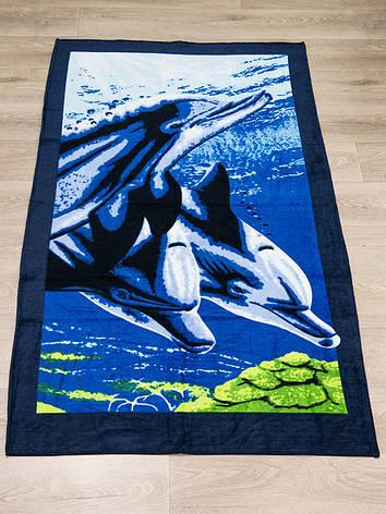 Полотенце пляжное Турция Дельфины 75*150см, фото 2