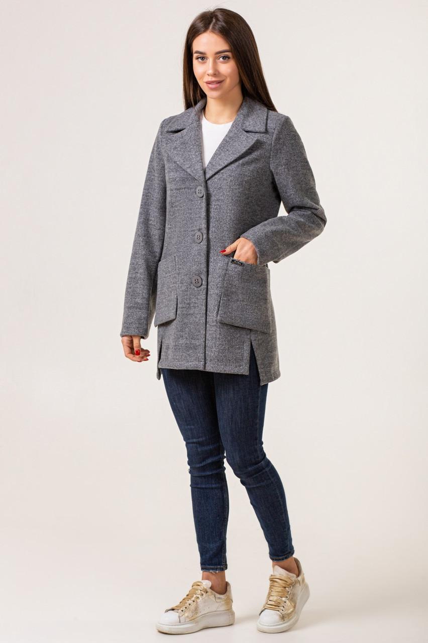 Кардиган из шерсти женский  модный  42-48 светло-серый