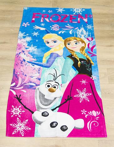 Полотенце пляжное Турция Frozen 75*150 см детское, фото 2