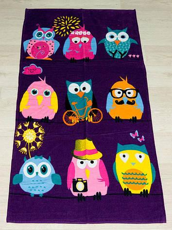 Полотенце пляжное Турция Owls 2 75*150см детское, фото 2
