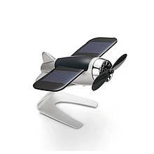 Автомобильный ароматизатор-самолёт на солнечной батарее, серый
