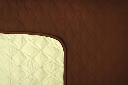 Покрывало Руно Звезда полуторное 150*212 см микрофибра паяное шоколадное арт.360.52У_ШМ зірка, фото 2