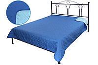 Покрывало Руно Лилия полуторное 150*212 см микрофибра паяное синее арт.360.52У_СБ лілія