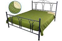 Покрывало Руно Ромб полуторное 150*212 см микрофибра паяное зеленое арт.360.52У_ЗС ромб