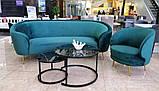 Комплект журнальных столов CS-25 стекло черный мрамор Vetro Mebel (бесплатная доставка), фото 4
