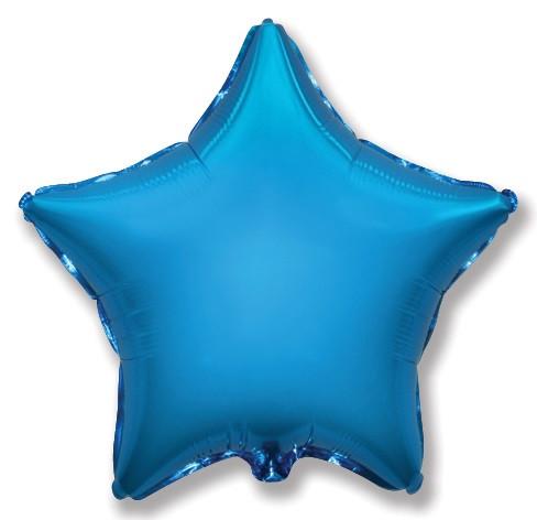 """Фол куля Flexmetal 32""""/80см ЗІРКА металік синій (ФМ)"""