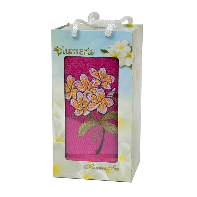 Полотенце для лица Plumeria Rose 50*90 см махровое банное 1шт