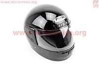 Шлем для мото скутер мопед закрытый (FXW) HF-101 размер S- ЧЕРНЫЙ глянец