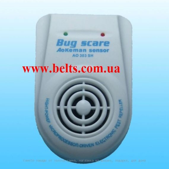 Ультразвуковий відлякувач шкідників Bug Scare Aokeman Sensor АТ 303