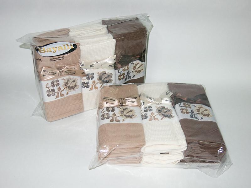 Набор полотенец для кухни Bayalli Coffee 45*70 см вафельные 12шт