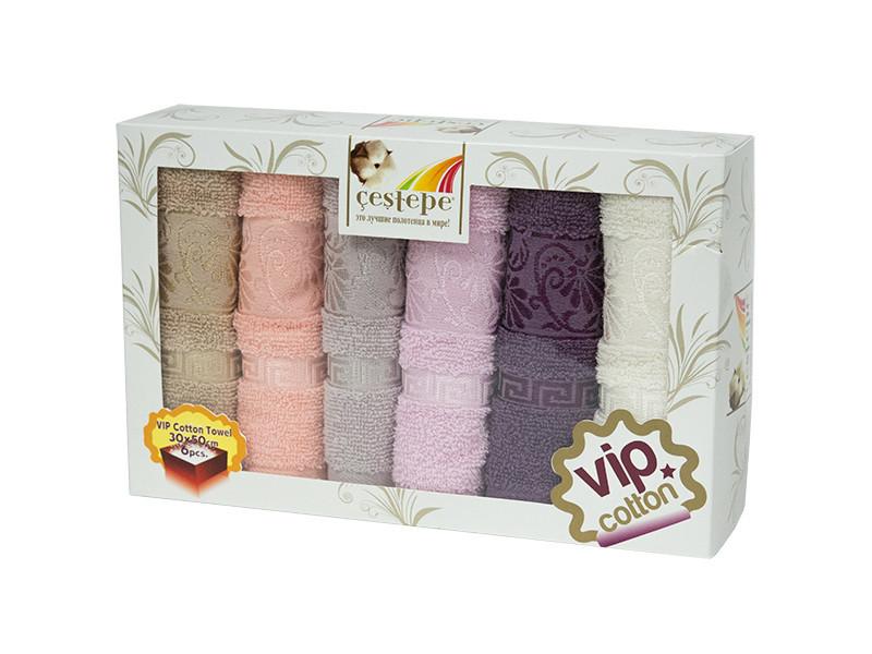 Набор полотенец для кухни Cestepe VIP Cotton Diana 30*50 см махровые в коробке 6шт
