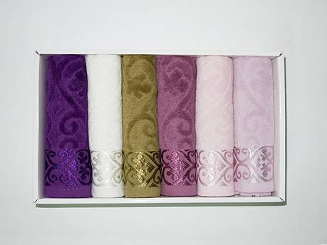 Набор полотенец для кухни Cestepe VIP Cotton Velour 30*50 см махровые в коробке рис 1 6шт, фото 2