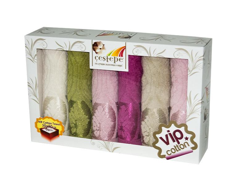 Набор полотенец для кухни Cestepe VIP Cotton Velour 30*50 см махровые в коробке рис 2 6шт