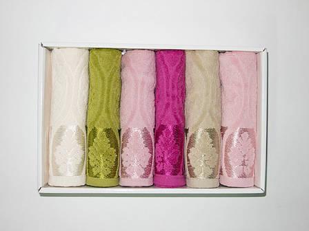 Набор полотенец для кухни Cestepe VIP Cotton Velour 30*50 см махровые в коробке рис 2 6шт, фото 2