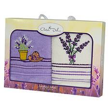 Набор полотенец для кухни Gursan Lavender 40*60 см махровые в коробке 2шт, фото 2