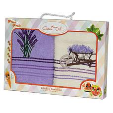 Набор полотенец для кухни Gursan Lavender 40*60 см махровые в коробке 2шт, фото 3
