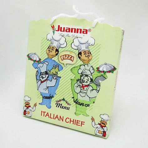 Набор полотенец для кухни Juanna Повар 50*70 см вафельные в коробке 2шт, фото 2