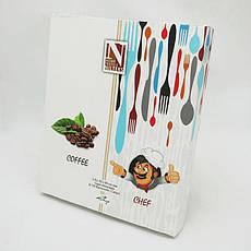 Набор полотенец для кухни Nilteks Books Coffee Chef 50*90 см вафельные в коробке 2шт, фото 3