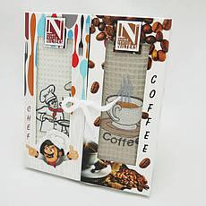 Набор полотенец для кухни Nilteks Books Coffee Chef 50*90 см вафельные в коробке 2шт, фото 2