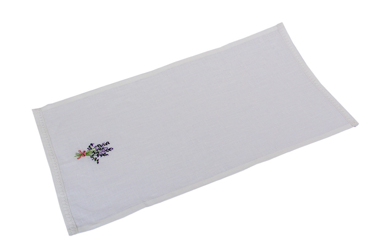 Полотенце для кухни LiMaSo Лаванда 35*65 см льняное вышитое арт.LVV06.35x65