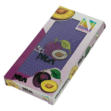 Полотенце для кухни Nilteks Plum 35*50 см вафельное в коробке, фото 2