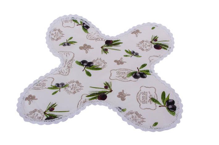 Салфетка в хлебницу LiMaSo Оливки 35*35 см хлопковая арт.OL10.35x35, фото 2