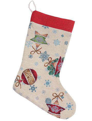 Сапожок для подарков LiMaSo Зимние развлечения 25*37 см гобеленовый новогодний арт.EDEN346-CH.25х37, фото 2