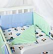 Комплект в кроватку Маленькая соня Comfort Автопарк поплин стандарт с бортиками 6 предметов детский арт.022982, фото 4