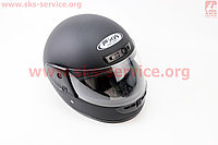Шлем для мото скутер мопед -закрытый (FXW) HF-101 РАЗМЕР S- ЧЕРНЫЙ матовый