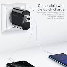 Зарядное устройство KUULAA KL-CD12 36 вт Быстрая зарядка Quick Charge QC3.0 USB/PD Black, фото 3