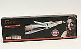 Плойка выпрямитель стайлер гофре локоны 3в1, для волос Geemy GM-2978 Черный, фото 4