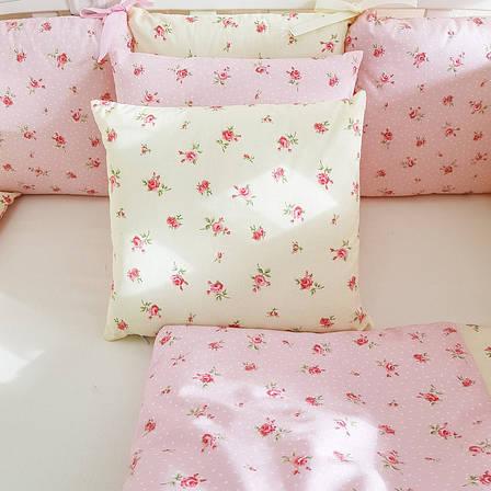 Комплект в кроватку Маленькая соня Baby Прованс №57 поплин стандарт/овал с бортиками 7 предметов детский, фото 2