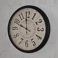 """Настенные часы """"Morning time"""" black case (40 см.), фото 1"""