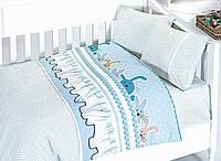 Комплект постельного белья в кроватку First Choice Satin Bamboo детский сатин арт.Ginny Mavi