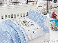 Комплект постельного белья в кроватку First Choice Satin Bamboo детский сатин арт.Kitty Mavi
