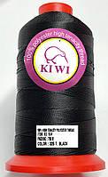 Нитка №10 Черная повышенной прочности 750м Kiwi