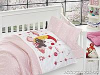 Комплект постельного белья в кроватку First Choice Satin Bamboo детский сатин арт.Sleeper Pembe