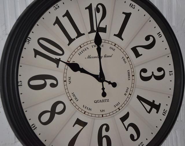 """Настенные часы """"Morning time"""" black case (фото)"""