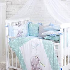 Комплект постільної білизни Маленька ліжечко соня Akvarel Кульбаба дитячий поплін стандарт/овал, фото 3