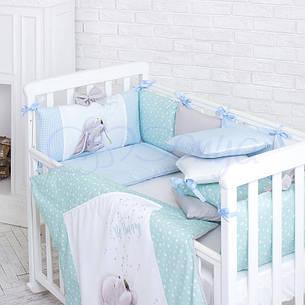 Комплект постільної білизни Маленька ліжечко соня Akvarel Кульбаба дитячий поплін стандарт/овал, фото 2