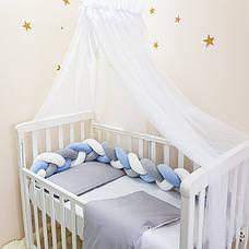 Комплект постельного белья в кроватку Маленькая соня Универсальный детский поплин серый арт.030052, фото 3